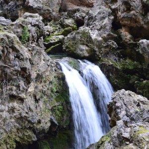 Cascada en el nacimiento del río Borosa en Jaén