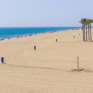 Playa La Bajadilla en Roquetas de Mar