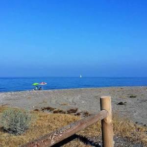 La playa de Macenas en Mojácar
