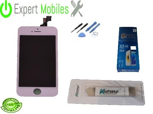 Kit complet de remplacement de votre écran iPhone 5s blanc