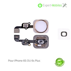Bouton HOME pour iPhone 6S OR (compatible iPhone 6S Plus)