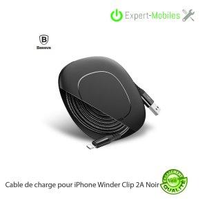 Câble de charge Baseus Winder Clip 2A pour iPhones & iPads