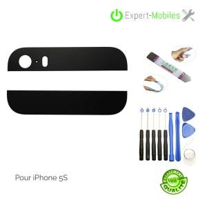 Vitres arrières hautes et basses de remplacement pour iPhone 5S noires