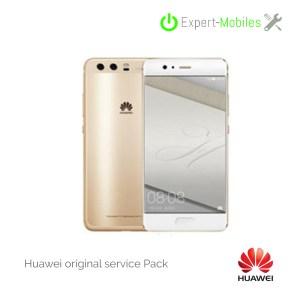Ecran complet assemblé sur châssis plus batterie pour Huawei P10 GOLD