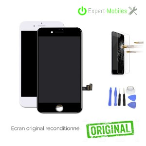 ECRAN LCD + VITRE TACTILE POUR IPHONE 7 BLANC OU NOIR APPLE RECONDITIONNE
