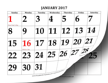 Free Printable 2017 Calendars Site Expands Selection