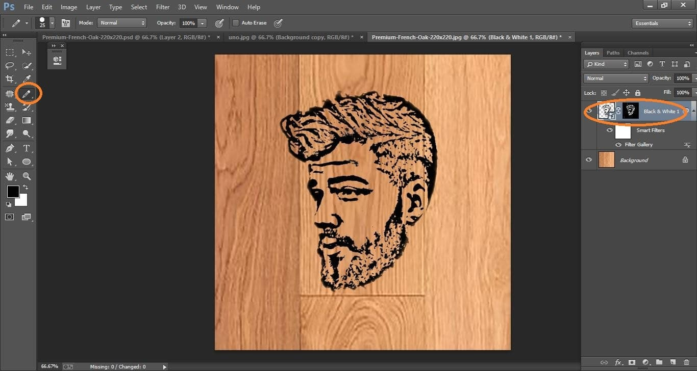 How to create Quickly Transform a Photo into a Woodcut- in Photoshop manipulation