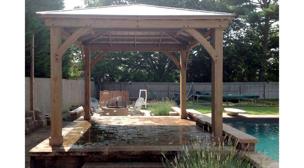Pool Cabanas Yardistry Garden Structures Gazebos Tiki