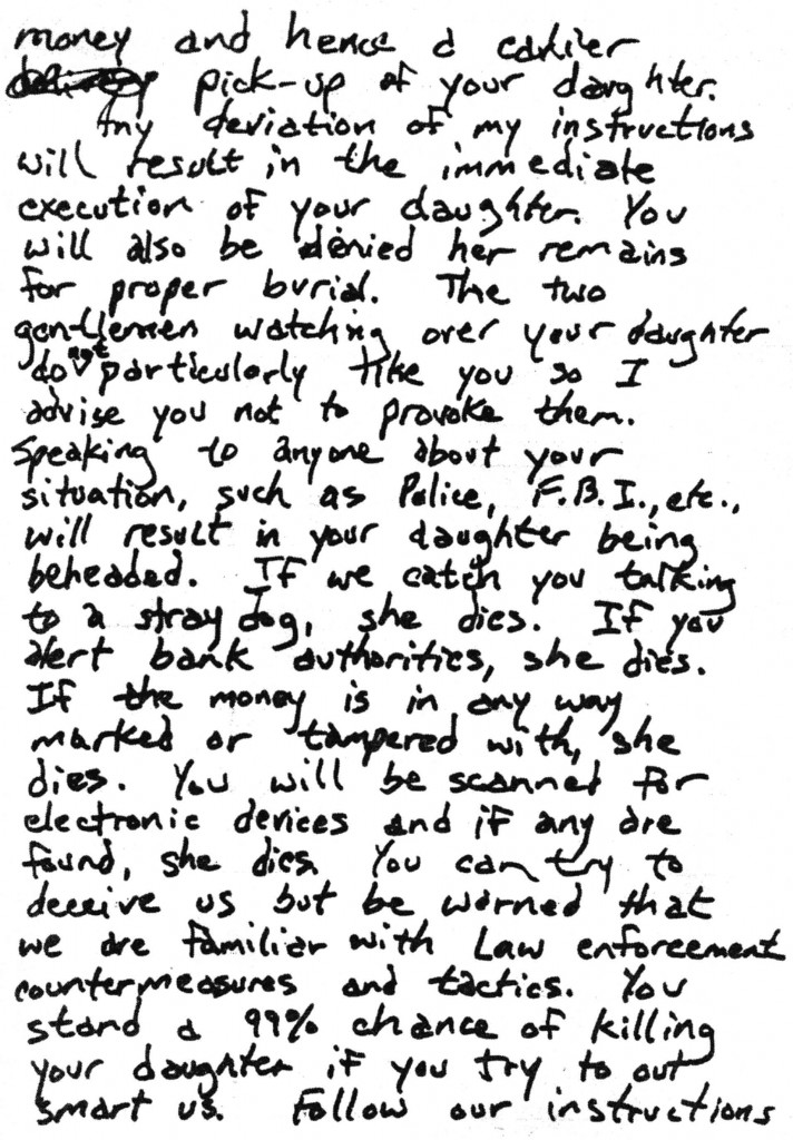 Disguised Handwriting: Unmasking The Ramsey Ransom Note