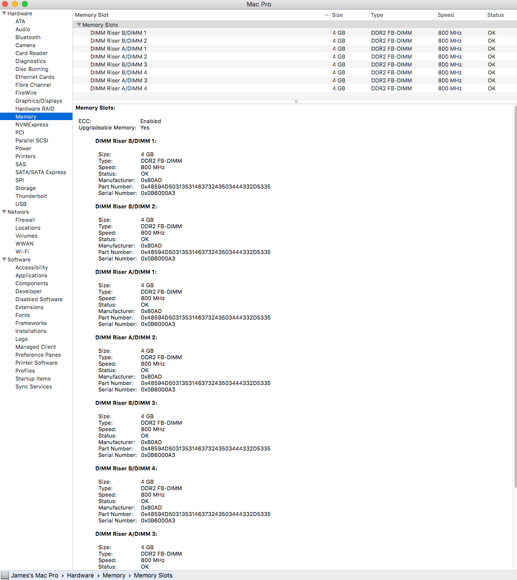I have a Mac Pro 3,1 from 2008 w/ 2x2.8 GHz Quad Core