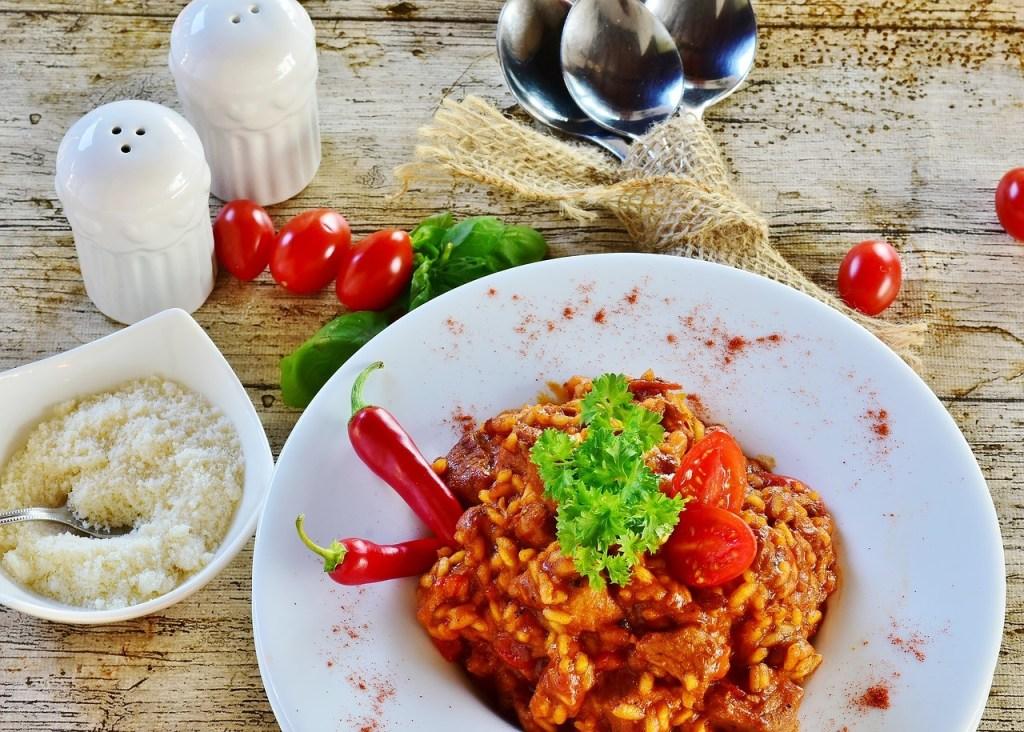 Scharfer Reis aus Reiskocher