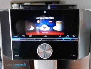 Display eines Kaffeevollautomat