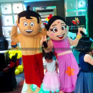 Chhota Bheem and Chutki Cartoon Costumes on Rent for 3 hours in Mohali