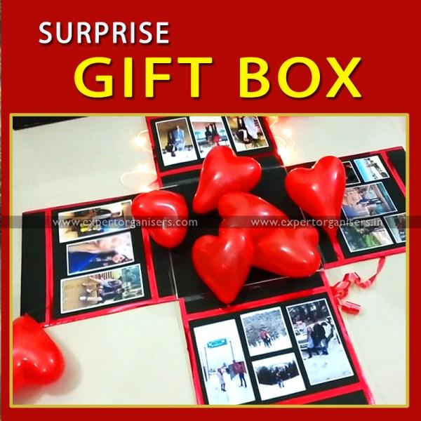 Surprise Explosion Box for Boyfriend, Girlfriend, Wife, Husband in Chandigarh, Mohali, Panchkula, Zirakpur, Kharar