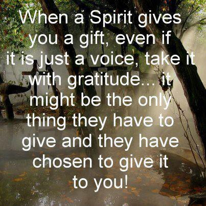 Accept the Gift of Spirits