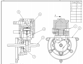 Orthographic assembly drawing, Mechanical Engineering