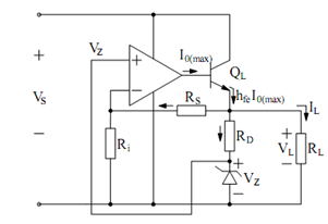 Op-Amp Regulator Incorporating Current Boosting With Zener
