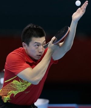 Ma Long Table Tennis Serve