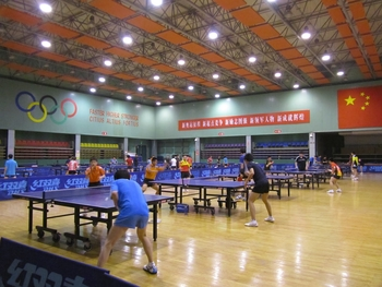 china ping pong training center