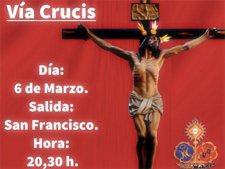 cartel via crucis miercoles de ceniza 2019