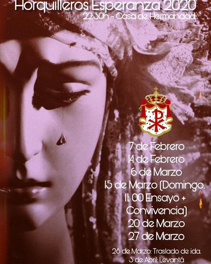 Cartel elaborado por el hermano horquillero Luis Francisco Gómez.