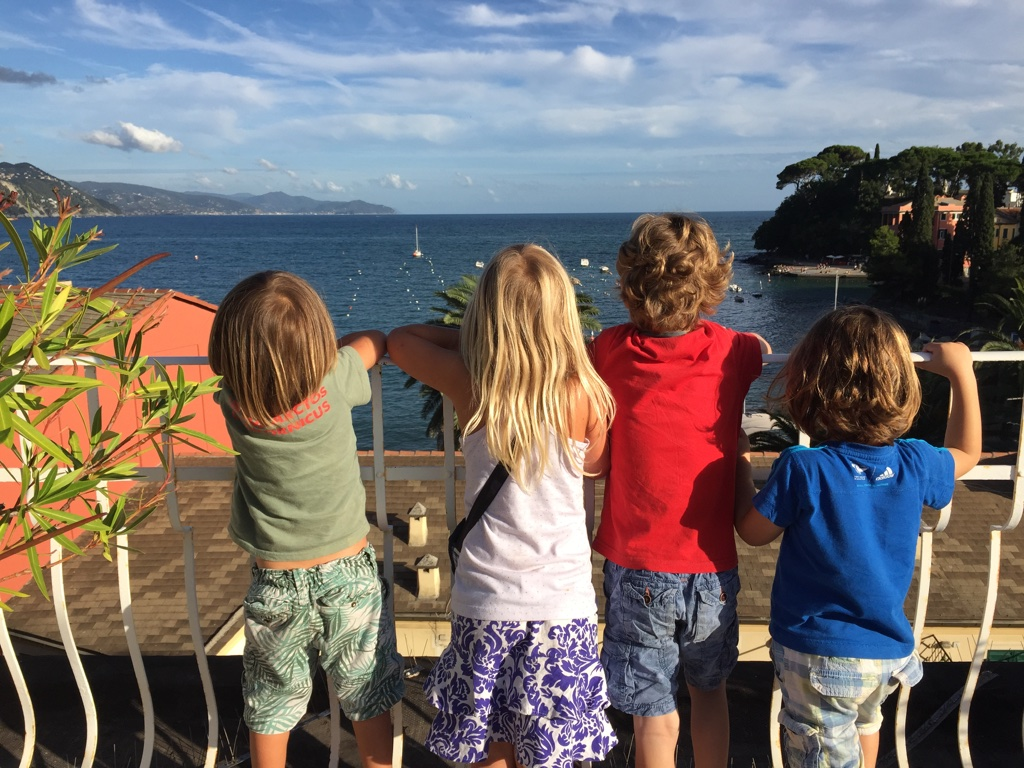 children, sea, view