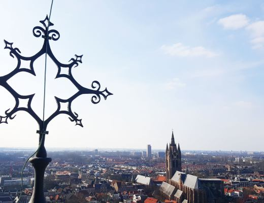 view of delft from the new church tower
