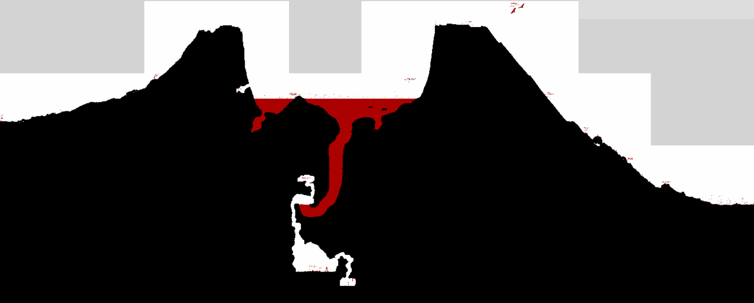 hight resolution of 1608 secret passage in the volcano png