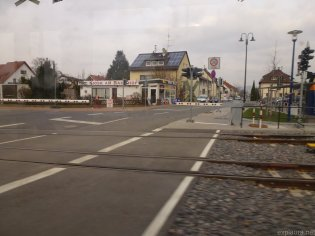 From the tram. Aaagh, the tram!!