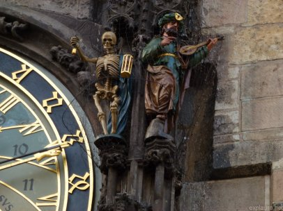 Part of the astronomical clock. Cheery, right?
