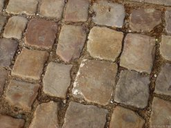 All of the roads in the town centre are cobblestones. I recommend against stilettos (!).