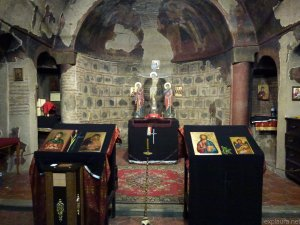 Inside the ancient church.