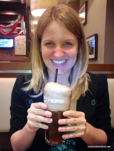I had a pepsi float and got outrageously excited about it!