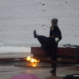 Hahahaha this guy REALLY gets into his marching. He's in the middle of the Changing of the Guard at the Eternal Flame in Moscow. I go to say that every city in Russia has an eternal flame, commemorating those who fell in WW2. Moscow's is right by the Kremlin: I have no idea where it is in St P!