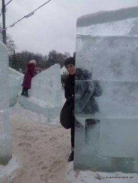 We found an ice castle in Sokolniki Park - whoohoo!!