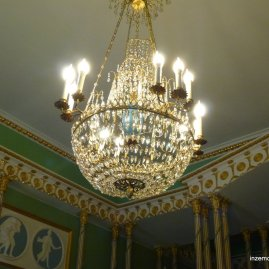 There are chandeliers everywhere in Russia, it's awesome.