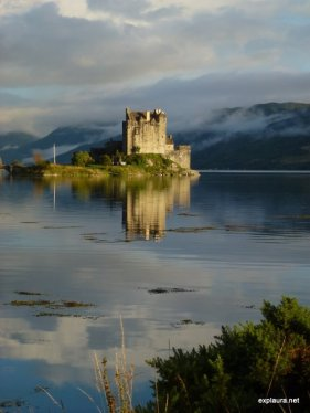 Eilean Donan Castle. This photo is completely unaltered in any way, it was just amazing!!