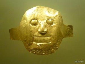 A gold death-mask.