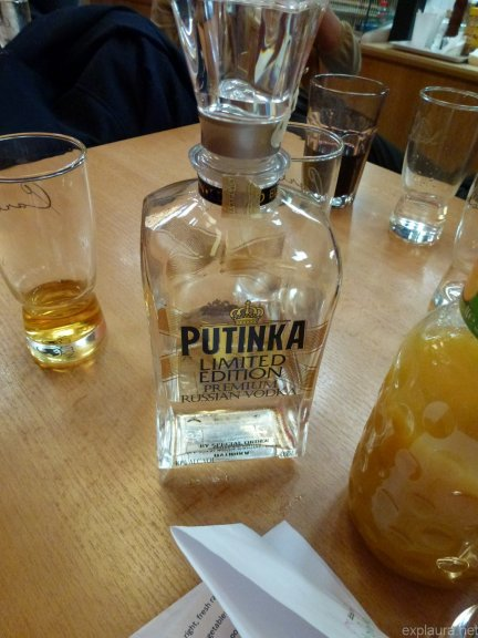 My debut Putinka vodka experience! I drank *so* much of this in Russia.
