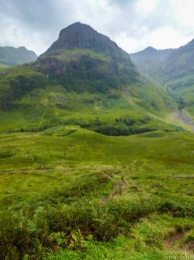 One of the Three Sisters at Glencoe Pass, the most amazing road in the world.