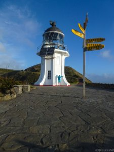 Me being a smurf in front of Cape Reinga lighthouse.