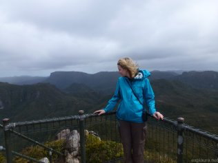 At the pinnacle of the Pinnacles. A little bit breezy!
