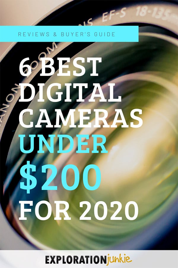 Cameras under 200 dollars Pinterest Image