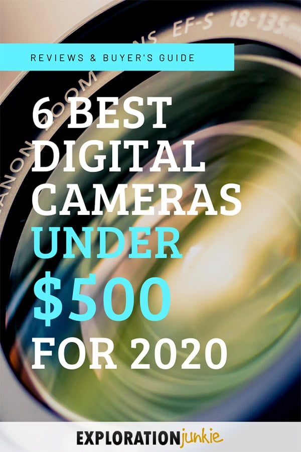 Cameras under 500 dollars Pinterest image