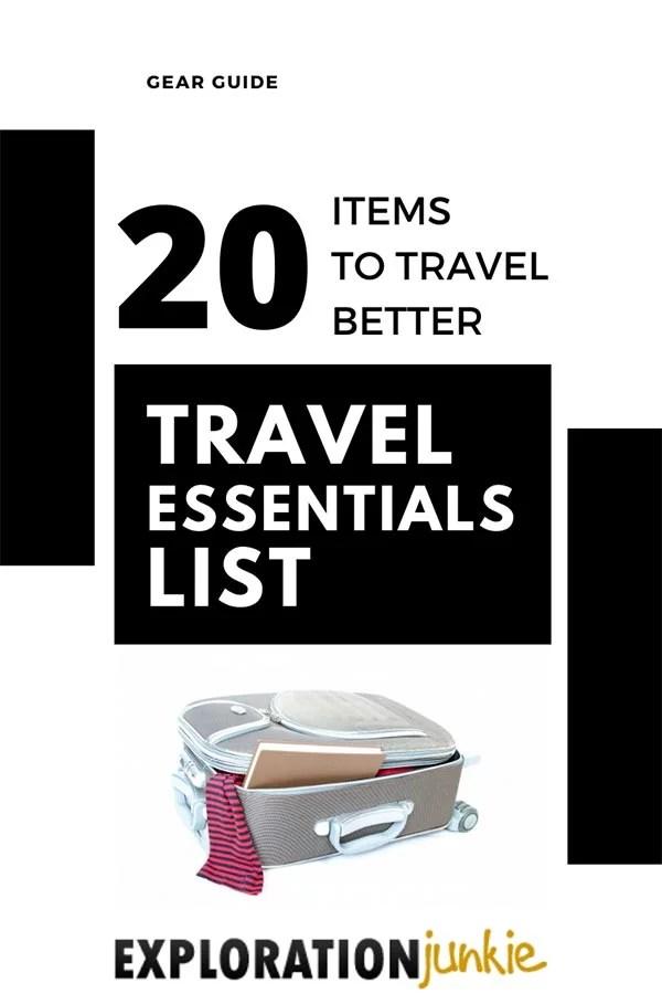 Travel Essentials List Pinterest Image