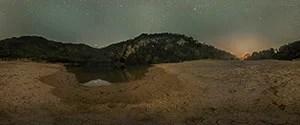 Xe Bangfai Sandbar by Night