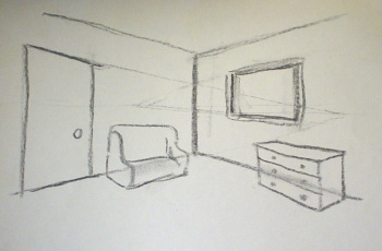 2 Point Perspective Drawing Interior. 2 Point Perspective Draw Interiors Part 38