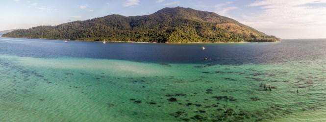 Panorama Koh Adang mit der Drone aufgenommen