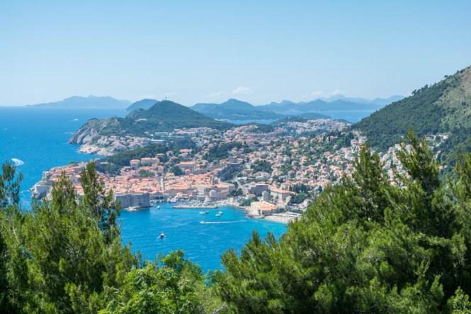 Kroatien Roadtrip: Blick auf Dubrovnik