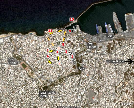 χάρτης περιήγησης στο Ηράκλειο